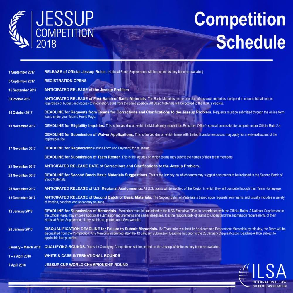 Jessup Comepetition Schedule